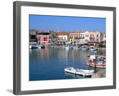 Old Harbour, Rethymnon, Crete, Greece-Peter Thompson-Framed Photographic Print