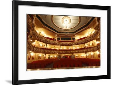 Auditorium of the Grand Theatre, Swansea, South Wales, 2010-Peter Thompson-Framed Photographic Print
