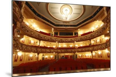 Auditorium of the Grand Theatre, Swansea, South Wales, 2010-Peter Thompson-Mounted Photographic Print