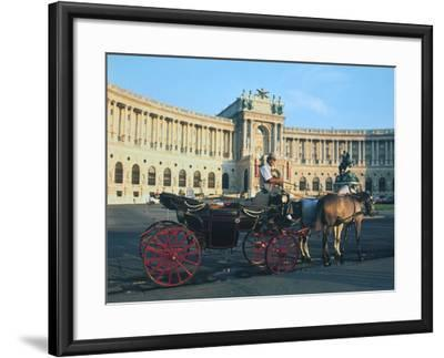The Hofburg with Carriage, Vienna, Austria-Peter Thompson-Framed Photographic Print