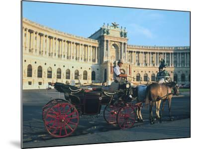 The Hofburg with Carriage, Vienna, Austria-Peter Thompson-Mounted Photographic Print
