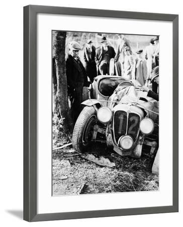 Crash of the Le Mans 24 Hours Winner at Spa, Belgium, 1938--Framed Photographic Print