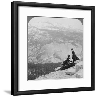 View from Clouds Rest over the Little Yosemite Valley to Mount Clark, California, USA, 1902-Underwood & Underwood-Framed Photographic Print