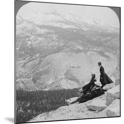 View from Clouds Rest over the Little Yosemite Valley to Mount Clark, California, USA, 1902-Underwood & Underwood-Mounted Photographic Print