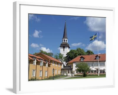 Gripsholm Vardshus and Hotel, Swedens Oldest Inn, Mariefred, Sodermanland, Sweden-Peter Thompson-Framed Photographic Print