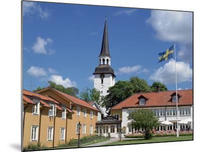 Gripsholm Vardshus and Hotel, Swedens Oldest Inn, Mariefred, Sodermanland, Sweden-Peter Thompson-Mounted Photographic Print