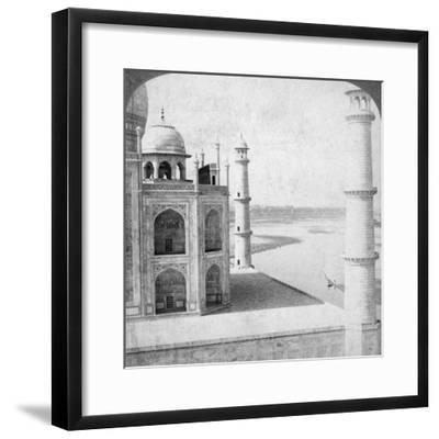 Looking North-West from the Taj Mahal Up the Jumna River to Agra, India, 1903-Underwood & Underwood-Framed Photographic Print