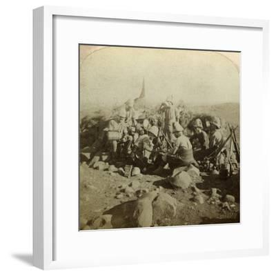 Gordon Highland Signallers on Signal Hill, Euslin, South Africa, Boer War, 1899-1902-Underwood & Underwood-Framed Photographic Print