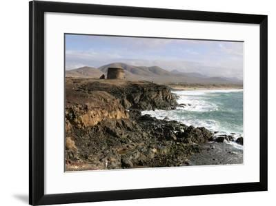 Tower, El Cotillo, Fuerteventura, Canary Islands-Peter Thompson-Framed Photographic Print