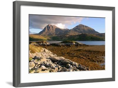 Sail Gharbh and Sail Gorm, Quinag, Highland, Scotland-Peter Thompson-Framed Photographic Print