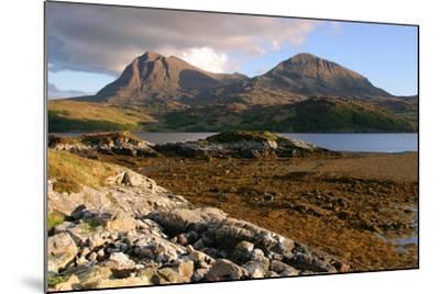 Sail Gharbh and Sail Gorm, Quinag, Highland, Scotland-Peter Thompson-Mounted Photographic Print