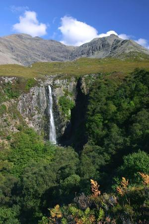 Waterfall Above Glen Brittle, Cuillin Hills, Isle of Skye, Highland, Scotland-Peter Thompson-Framed Photographic Print