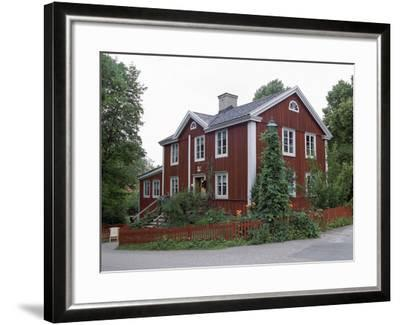 The Post Office from Smaland, Skansen, Stockholm, Sweden-Peter Thompson-Framed Photographic Print