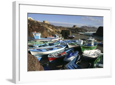 Fishing Boats, El Cotillo, Fuerteventura, Canary Islands-Peter Thompson-Framed Photographic Print