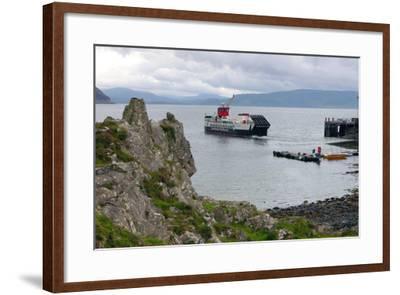 Tobermory Ferry Leaving Kinchoan, Ardnamurchan Peninsula, Highland, Scotland-Peter Thompson-Framed Photographic Print