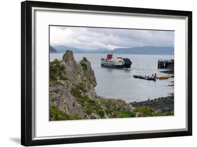Tobermory Ferry Leaving Kinchoan, Ardnamurchan Peninsula, Highland, Scotland-Peter Thompson-Framed Photographic Print