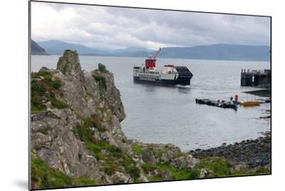 Tobermory Ferry Leaving Kinchoan, Ardnamurchan Peninsula, Highland, Scotland-Peter Thompson-Mounted Photographic Print