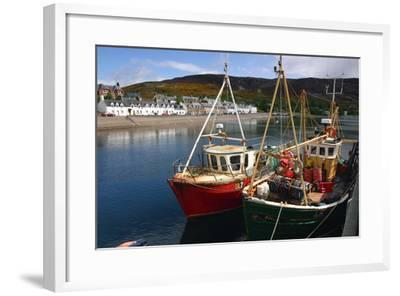 Fishing Boats, Ullapool Harbour, Highland, Scotland-Peter Thompson-Framed Photographic Print