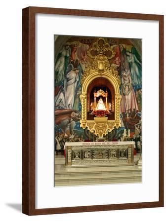 Inside Church, Candelaria, Tenerife, 2007-Peter Thompson-Framed Photographic Print