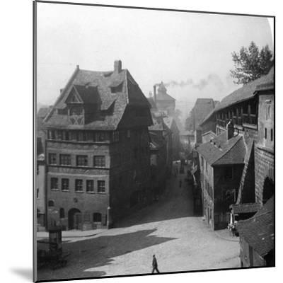 Albrecht Durer's House, Nuremberg, Germany, C1900-Wurthle & Sons-Mounted Photographic Print