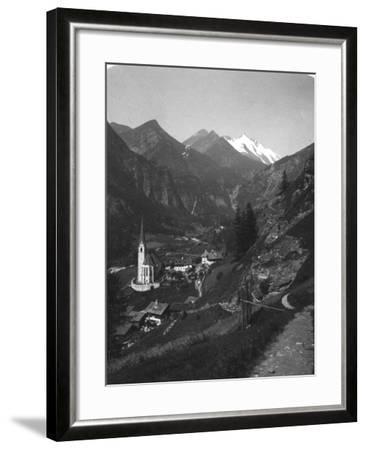 Heiligenblut and Grossglockner, Austria, C1900s-Wurthle & Sons-Framed Photographic Print