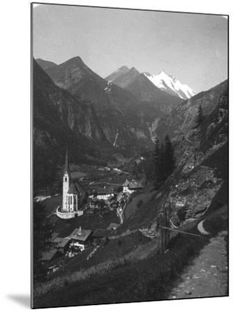 Heiligenblut and Grossglockner, Austria, C1900s-Wurthle & Sons-Mounted Photographic Print