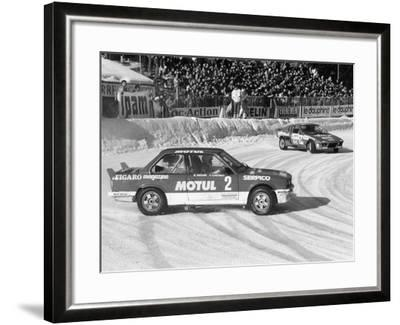 A BMW 325IX During the Chamonix Ice Race, France, 1989--Framed Photographic Print