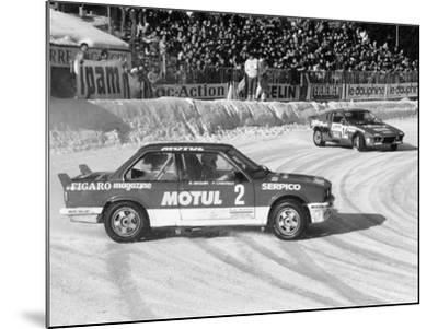 A BMW 325IX During the Chamonix Ice Race, France, 1989--Mounted Photographic Print