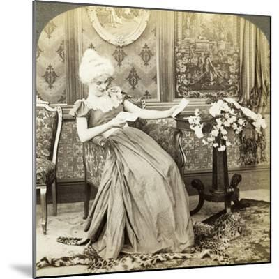 The Colonial Maiden's Dilemma, Two Proposals, Which Will Be Accepted-Underwood & Underwood-Mounted Photographic Print