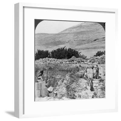 Steps Leading to Jacob's Well, Looking Northwest, Palestine (Israel), 1905-Underwood & Underwood-Framed Photographic Print