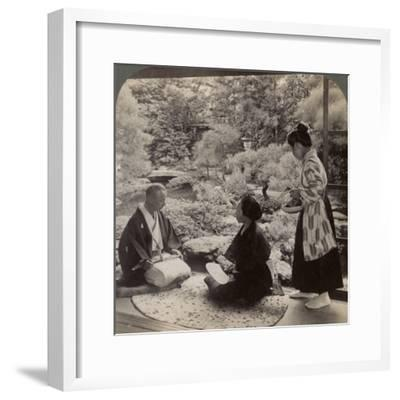 The Gardens of the Home of Mr Y Namikawa, Leader in the Art Industries, Kyoto, Japan, 1904-Underwood & Underwood-Framed Photographic Print