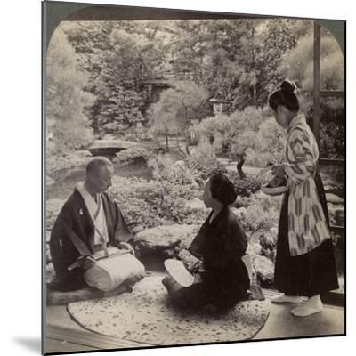The Gardens of the Home of Mr Y Namikawa, Leader in the Art Industries, Kyoto, Japan, 1904-Underwood & Underwood-Mounted Photographic Print