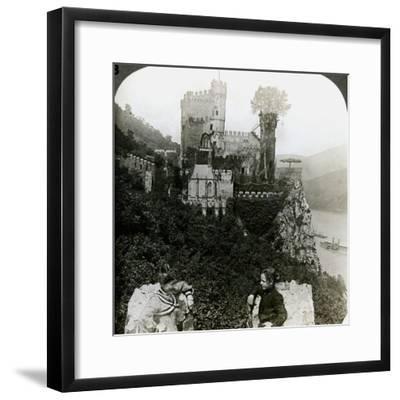 Castle Rheinstein, Near Bingen, Germany-Underwood & Underwood-Framed Photographic Print