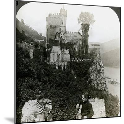 Castle Rheinstein, Near Bingen, Germany-Underwood & Underwood-Mounted Photographic Print