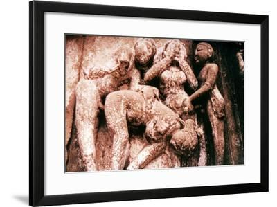 Erotic Sculpture, Hindu Temple, Khajuraho, India, 950-1050--Framed Photographic Print