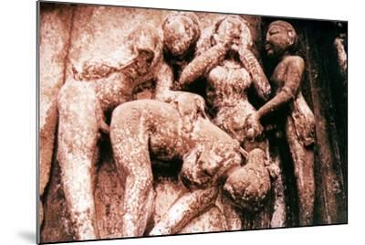 Erotic Sculpture, Hindu Temple, Khajuraho, India, 950-1050--Mounted Photographic Print