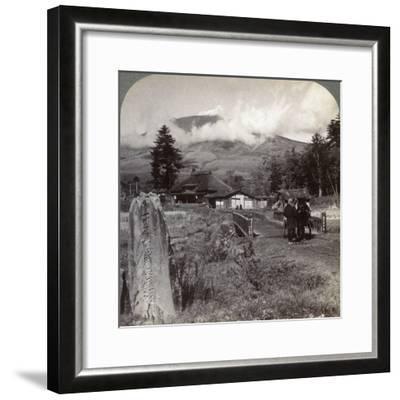 Mount Asama (Asamayam), Japan's Largest Active Volcano, Northwest from Katsukake, 1904-Underwood & Underwood-Framed Photographic Print