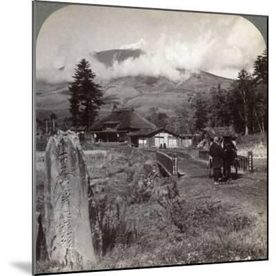 Mount Asama (Asamayam), Japan's Largest Active Volcano, Northwest from Katsukake, 1904-Underwood & Underwood-Mounted Photographic Print