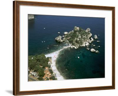 Isola Bella, Taormina, Sicily, Italy-Peter Thompson-Framed Photographic Print