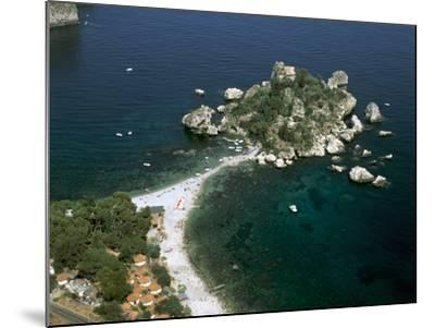 Isola Bella, Taormina, Sicily, Italy-Peter Thompson-Mounted Photographic Print