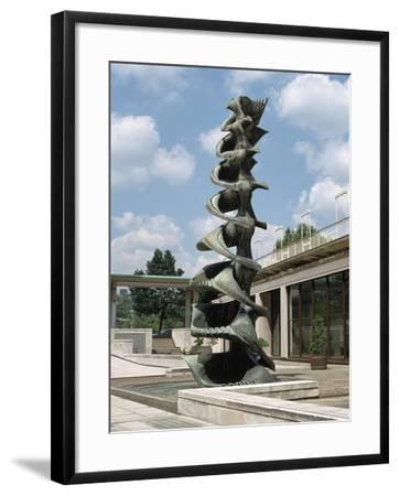 Fountain, Courtyard of the Shell Centre, London-Peter Thompson-Framed Photographic Print