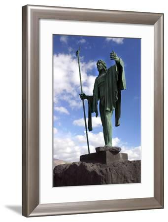 Guanche Statue, Candelaria, Tenerife, 2007-Peter Thompson-Framed Photographic Print