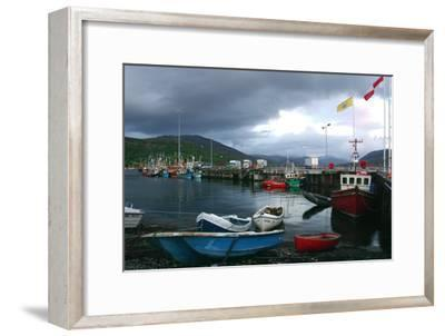 Ullapool Harbour on a Stormy Evening, Highland, Scotland-Peter Thompson-Framed Photographic Print