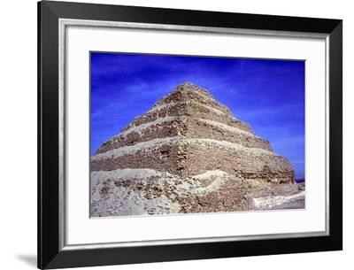 Step Pyramid of King Djoser (Zozer), Saqqara, Egypt, 3rd Dynasty, C2600 Bc- Imhotep-Framed Photographic Print