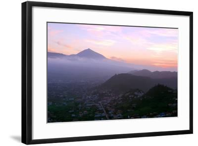 Sunset Behind Mount Teide, Volcano on Tenerife, Canary Islands, 2007-Peter Thompson-Framed Photographic Print