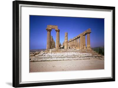 The Doric Temple of Hera at Agrigento, 5th Century Bc-CM Dixon-Framed Photographic Print