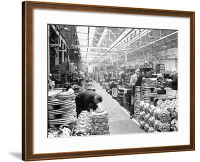 Machine Shop at Ariel Motors, C1950--Framed Photographic Print