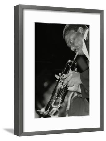 Trumpeter Cat Anderson Performing at the Newport Jazz Festival, Ayresome Park, Middlesbrough, 1978-Denis Williams-Framed Photographic Print