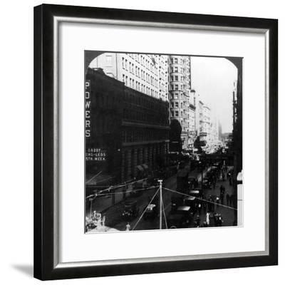 Skyscrapers, Randolph Street, Chicago, Illinois, USA, Early 20th Century-Underwood & Underwood-Framed Photographic Print