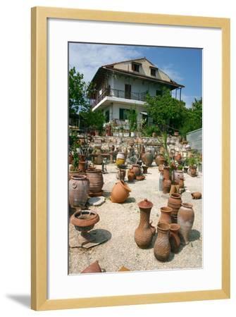 Pottery Karavomilos, Kefalonia, Greece-Peter Thompson-Framed Photographic Print